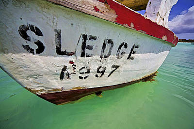Photograph - A Fishing Boat Named Sledge by David Letts