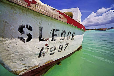 A Fishing Boat Named Sledge II Art Print by David Letts