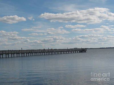 A Fishing Pier Art Print by Frederick Holiday