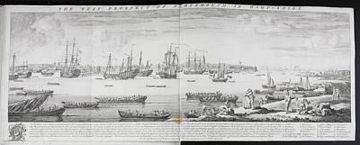 A Fleet Of Ships Off Portsmouth Art Print
