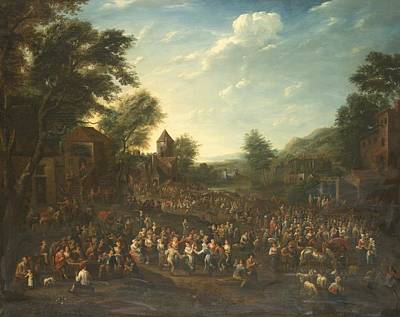 Country Fair Painting - A Flemish Country Fair by Celestial Images
