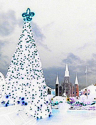 Photograph - New Orleans Creole Christmas St. Louis Cathedral At Jackson Square by Michael Hoard