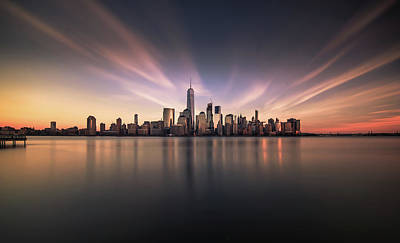 New York Skyline Wall Art - Photograph - A floating City by David D