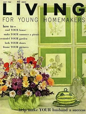 A Floral Arrangement Art Print