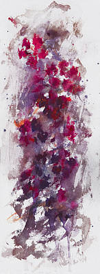 Mystical Landscape Painting - a floral dream II by Rachel Christine Nowicki
