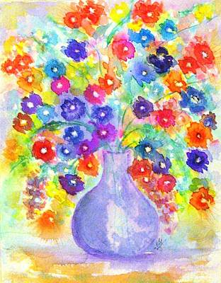 Painting - A Floral Rainbow by Hazel Holland