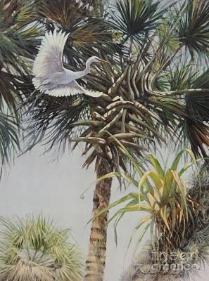 Sandra Williams Painting - A Florida Afternoon by Sandra Williams
