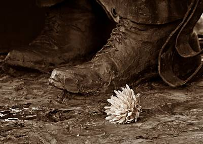 Photograph - A Flower At The Feet by Patricia Strand