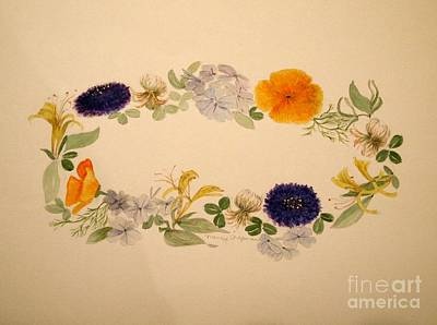 Painting - A Flower Circle by Nancy Kane Chapman