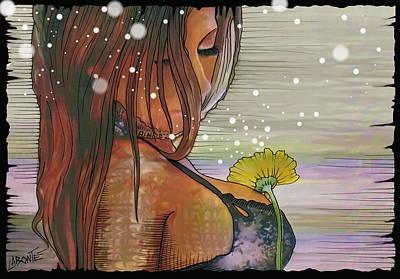 A Flower Art Print by Mario Labonte
