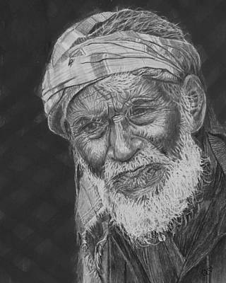 Drawing - A Fly On His Turban by Quwatha Valentine