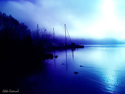 A Foggy Day At Log Boom Park In Kenmore Washington Art Print