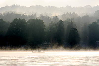 A Foggy Morning Fishing Art Print