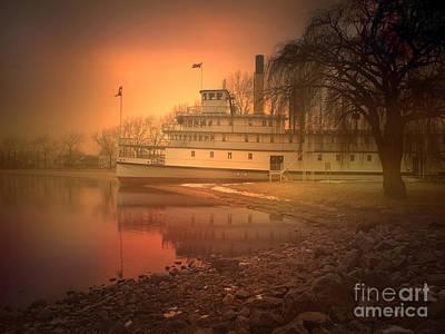 A Foggy Sunrise Art Print by Tara Turner