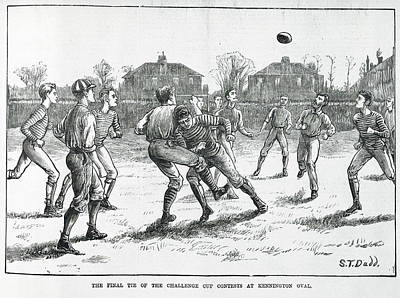 Sports Illustrated Photograph - A Football Match by British Library