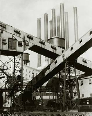 Exterior Photograph - A Ford Automobile Factory by Charles Sheeler