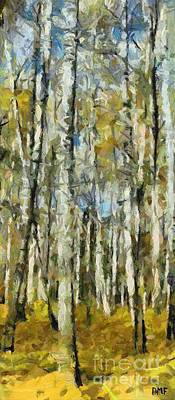 Birch Painting - A Forest After The Rain by Dragica  Micki Fortuna
