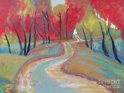 Fork In The Road Painting - A Fork In The Road by Kip Decker