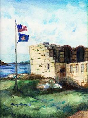 A Fort In Maine Art Print by Shana Rowe Jackson