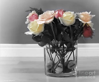 Floral Photograph - A Foundation Of Love by Cathy  Beharriell