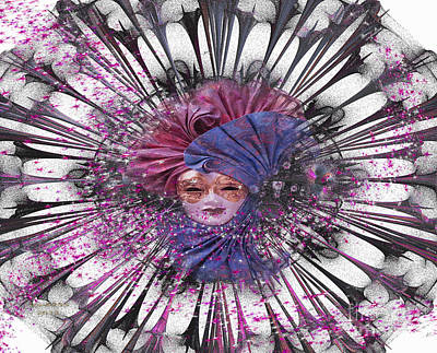 Digital Art - A Fractal Mask by Melissa Messick