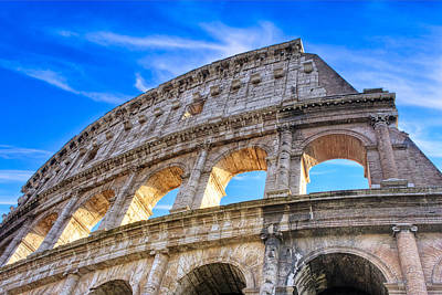 Colliseum Photograph - A Fragment Of Rome's Glory - Colosseum by Mark E Tisdale