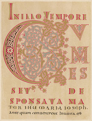 A Fragment Of Sintram's Evangelium Art Print by Mary Evans Picture Library
