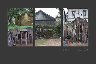 Photograph - A Frame Triptych Image Art by Jo Ann Tomaselli