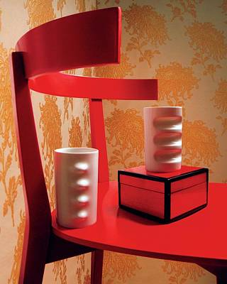 Lacquer Photograph - A Fratelli Tominaga Chair And Hakusan Fancy Cups by Danny Evans