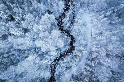 Aerial Photograph - A Freezing Cold Beauty by Daniel Fleischhacker