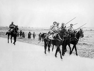 Young Man Photograph - A French Cavalry Patrol by Underwood Archives
