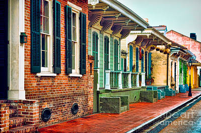Photograph - A French Quarter Street - Digital Painting by Kathleen K Parker