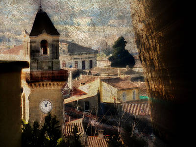 A French Village Art Print by Tina Concetta Marzocca