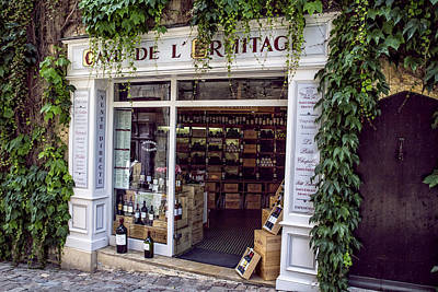Vino Photograph - A French Wine Store by Georgia Fowler