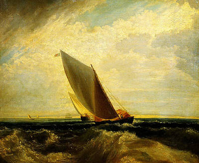 Turner Artwork Painting - A Fresh Breeze  After Sheerness And The Isle by Celestial Images