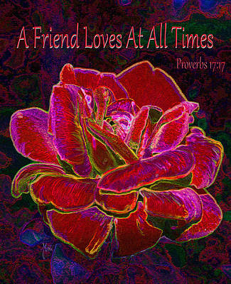 A Friend Loves At All Times Art Print