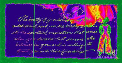 Mixed Media - A Friendship Letter by Angela L Walker