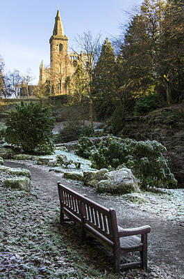 Photograph - A Frosty Day By The Abbey by Ross G Strachan
