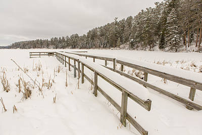 Itasca State Park Photograph - A Frozen Dock by Tim Grams