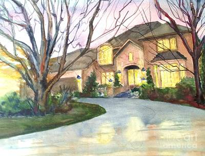 Painting - A Full House by J Worthington Watercolors