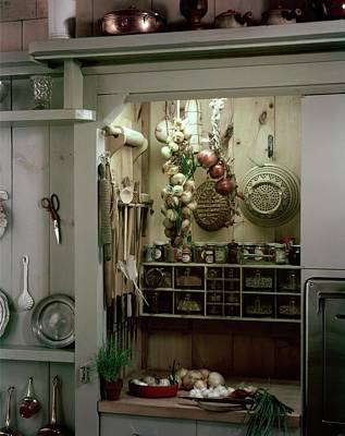 Pantries Photograph - A Full Spice Rack In A Kitchen by Haanel Cassidy