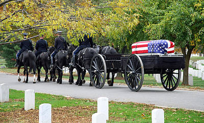 Photograph - A Funeral In Arlington by Cora Wandel