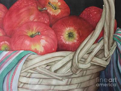 Painting - A Gala Basket by Kathy Staicer