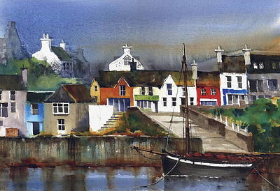 Painting - A Galway Hooker In Baltimore Cork by Val Byrne