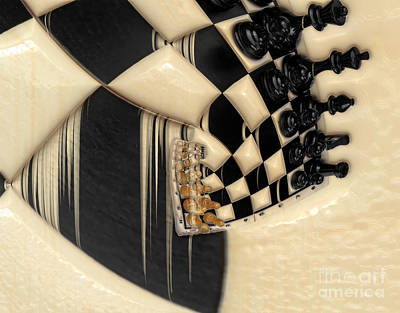 A Game Of Chess Art Print by Liane Wright