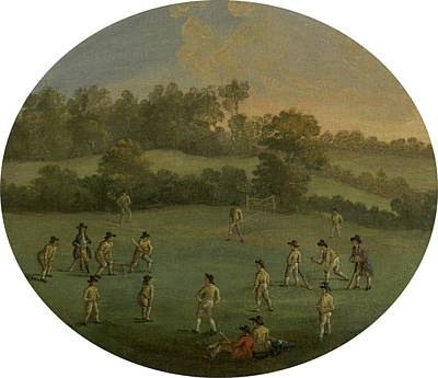 A Game Of Cricket The Royal Academy Club In Marylebone Art Print by Litz Collection