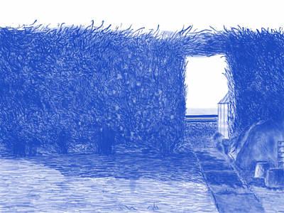 Shed Digital Art - A Garden 3 by Sam Clift