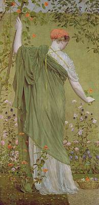 Admiring The View Painting - A Garden by Albert Joseph Moore