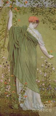 A Garden Art Print by Albert Joseph Moore