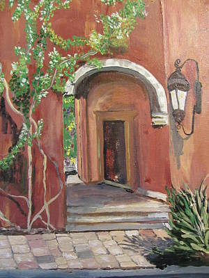 Painting - A Garden Around The Corner by Dody Rogers